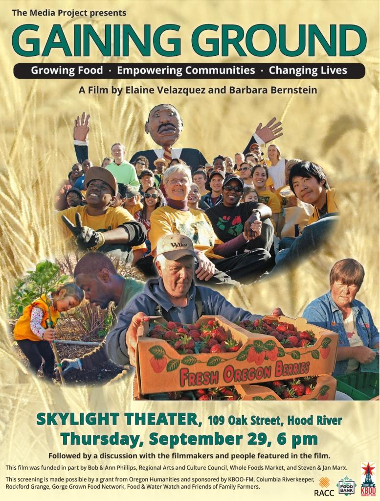Gaining Ground Across Oregon HR poster